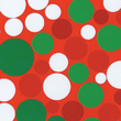 Christmas Cotton Fabric, Dot Allover Green/Red/White, 43/44in.W