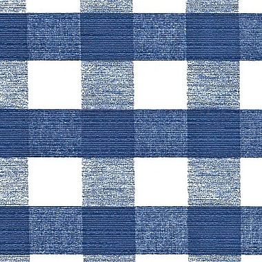 Flannel Backed Vinyl, Blue Chess Check, 54