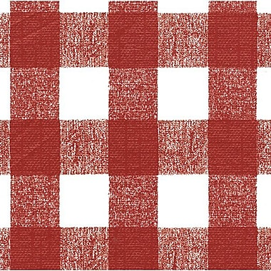 Flannel Backed Vinyl, Red Chess Check, 54