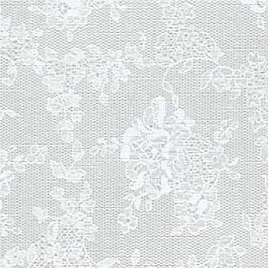 Flannel Backed Vinyl, White Lace, 54