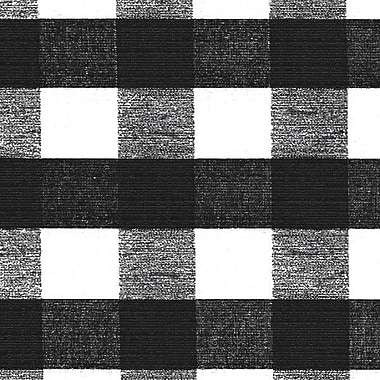 Flannel Backed Vinyl, Black & White Check, 54