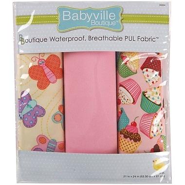 Babyville PUL Waterproof Diaper Fabric, Sweet Stuff Butterflies & Cupcakes, 21