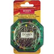 Bohin Glass Head Quilting Pins 1-7/8, 100/Pack