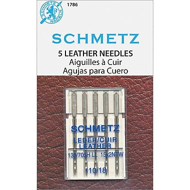 Euro-Notions Leather Machine Needles, Size 110/18, 5/Pack