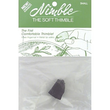 Leather Nimble Thimble With Metal Tip, Small
