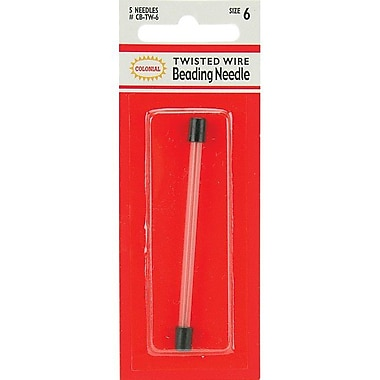 Colonial Needle Twisted Wire Beading Needles, Size 6, 5/Pack