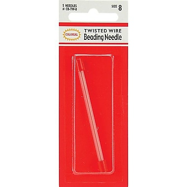 Colonial Needle Twisted Wire Beading Needles, Size 8, 5/Pack