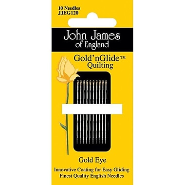 Colonial Needle Gold'n Glide Quilting Needles, Size 11, 10/Pack