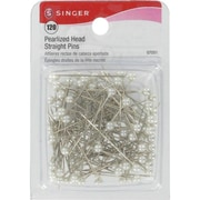 Singer Pearlized Head Straight Pins 1-1/2, 120/Pack