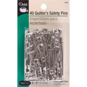 Dritz Quilter's Safety Pins, Size 3, 40/Pack