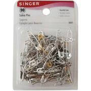 Singer Safety Pins, Assorted Sizes, 90/Pack