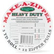 Make-A-Zipper Kit Heavy Duty, 3yd, White