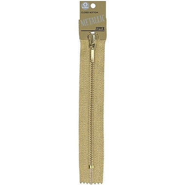 Fashion Metallic Closed End Zipper, 9