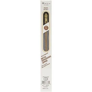 Heavyweight Brass Separating Metal Zipper, 20