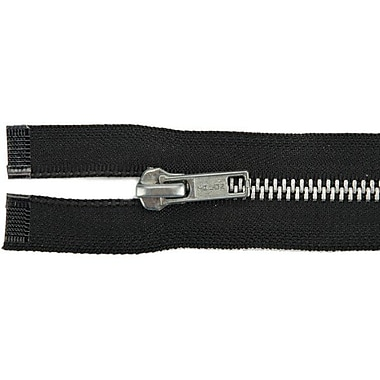 Heavyweight Aluminum Separating Metal Zipper, 18
