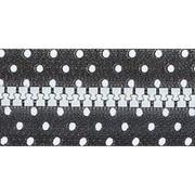 Fashion Black & White Closed End Zipper, 9, Black W/White Dots