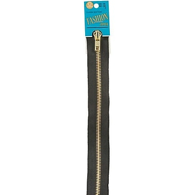 Fashion Metal Brass Closed Bottom Zipper, 22