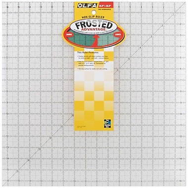 Olfa Frosted Advantage Non-Slip Ruler,