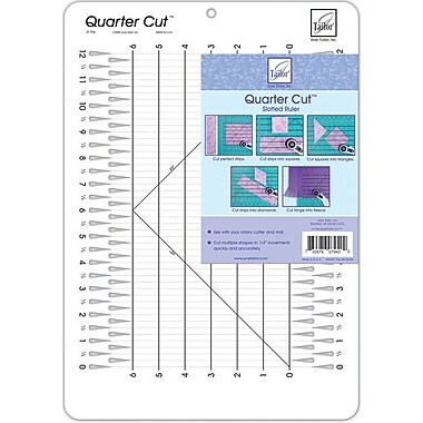 Quarter Cut Slotted Ruler, 11.25