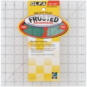 "Olfa Frosted Advantage Non-Slip Ruler, ""The Alternative"", 9-1/2""X9-1/2"""