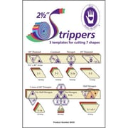 "2-1/2"" Strippers Templates, 3 Templates For 7 Shapes"