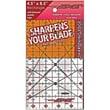 The Cutting EDGE Clear Ruler, 4-1/2in.X8-1/2in.