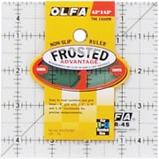 "Olfa Frosted Advantage Non-Slip Ruler, ""The Charm"", 4-1/2""X4-1/2"""