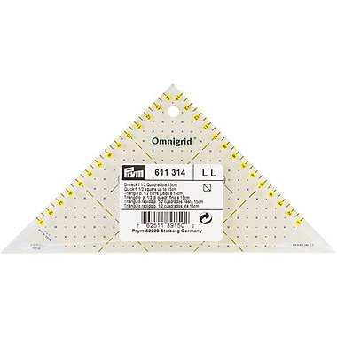 Omnigrid Metric Right Triangle Quilter's Ruler, For 1/2 Square Up To 15cm