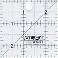 Olfa Frosted Advantage Non-Slip Ruler, in.The Miniaturein., 2-1/2in.X2-1/2in.