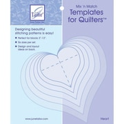 Mix'n Match Templates For Quilters,  6/Pkg, Heart