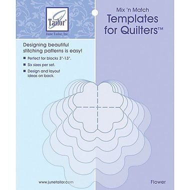 Mix'n Match Templates For Quilters, 6/Pkg, Flower
