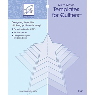 Mix'n Match Templates For Quilters, 6/Pkg, Star