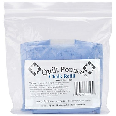 Quilt Pounce Chalk Refill, 2/Pkg, Blue