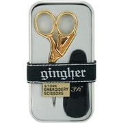 "Gingher 1005280 Sharp Tip 6.4"" Embroidery Scissors, Gold"