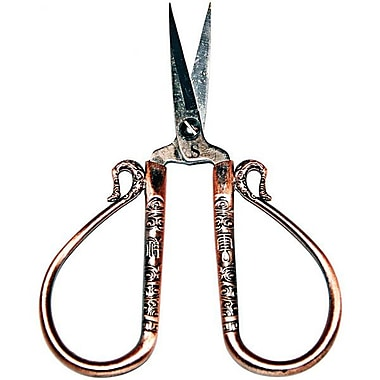 Heirloom Embroidery Scissors, 4in., Antique Copper -Teardrop Handle