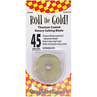 Roll The Gold! Titanium Coated Rotary Cutting Blade 45mm, 2/Pkg