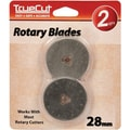 TrueCut Rotary Cutter Replacement Blades 28mm, 2/Pkg