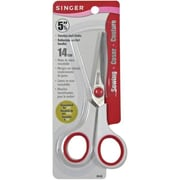"Singer 448 Sharp Tip 5.5"" Sewing Scissors, Red/White"