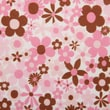 Babyville PUL Waterproof Diaper Fabric, Mod Girl Flowers, 64in. Wide