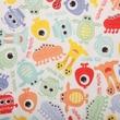 Babyville PUL Waterproof Diaper Fabric, Monsters, 64in. Wide