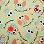 Babyville PUL Waterproof Diaper Fabric, Playful Friends Owls,