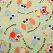 Babyville PUL Waterproof Diaper Fabric, Playful Friends Owls, 64in. Wide