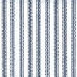 Cotton Fabric, Navy Stripe, 45in.W