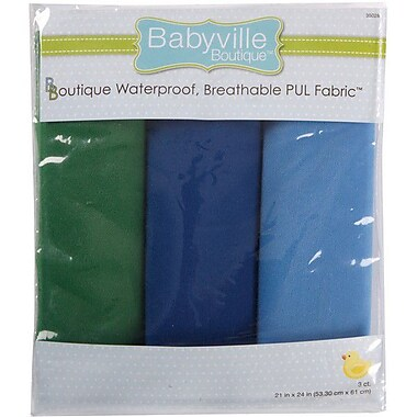 Babyville PUL Waterproof Diaper Fabric, Boy Solids, 21