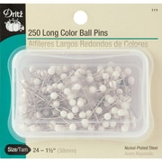 Dritz Long Color Ball Pins, Size 24, 250/Pack