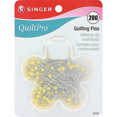 Singer QuiltPro Quilting Pins In Flower Case 1-3/4