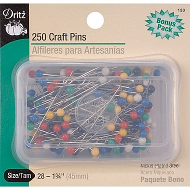 Craft Pins, Size 28, 250/Pkg