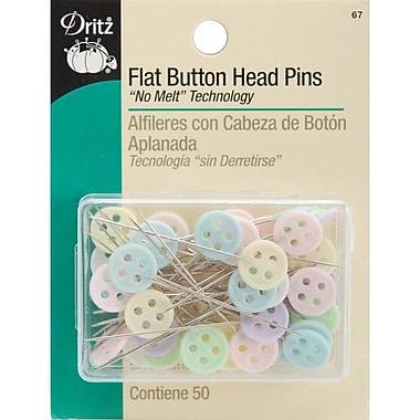Dritz Flat Button Head Pins, Assorted Sizes, 50/Pack