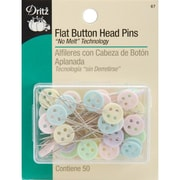 Dritz Flat Button Head Pins, Assorted Sizes, 50/Pack