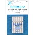 Quick Self Threading Machine Needles, Size 12/80, 5/Pkg